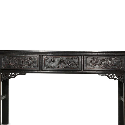 Black Lacquer Altar Table from Shandong - 19thC