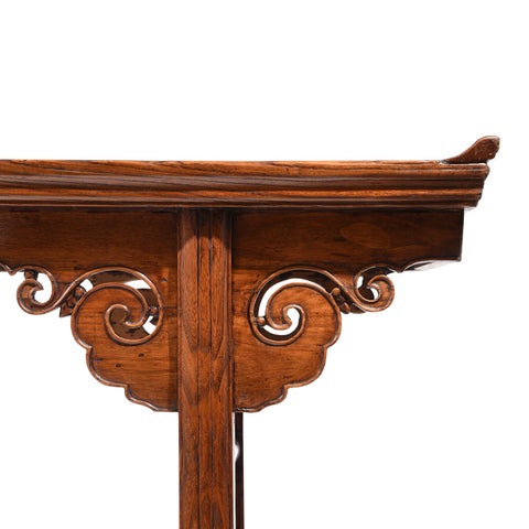 Chinese Altar Table Made From Catalpa & Elm - 19thC