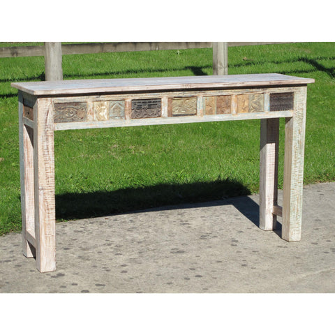 Console Table Made From Reclaimed Teak
