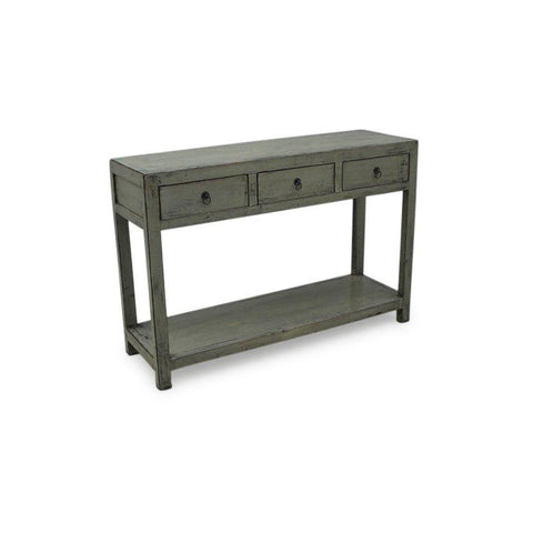 Grey Lacquer Console Table - Chinese Style