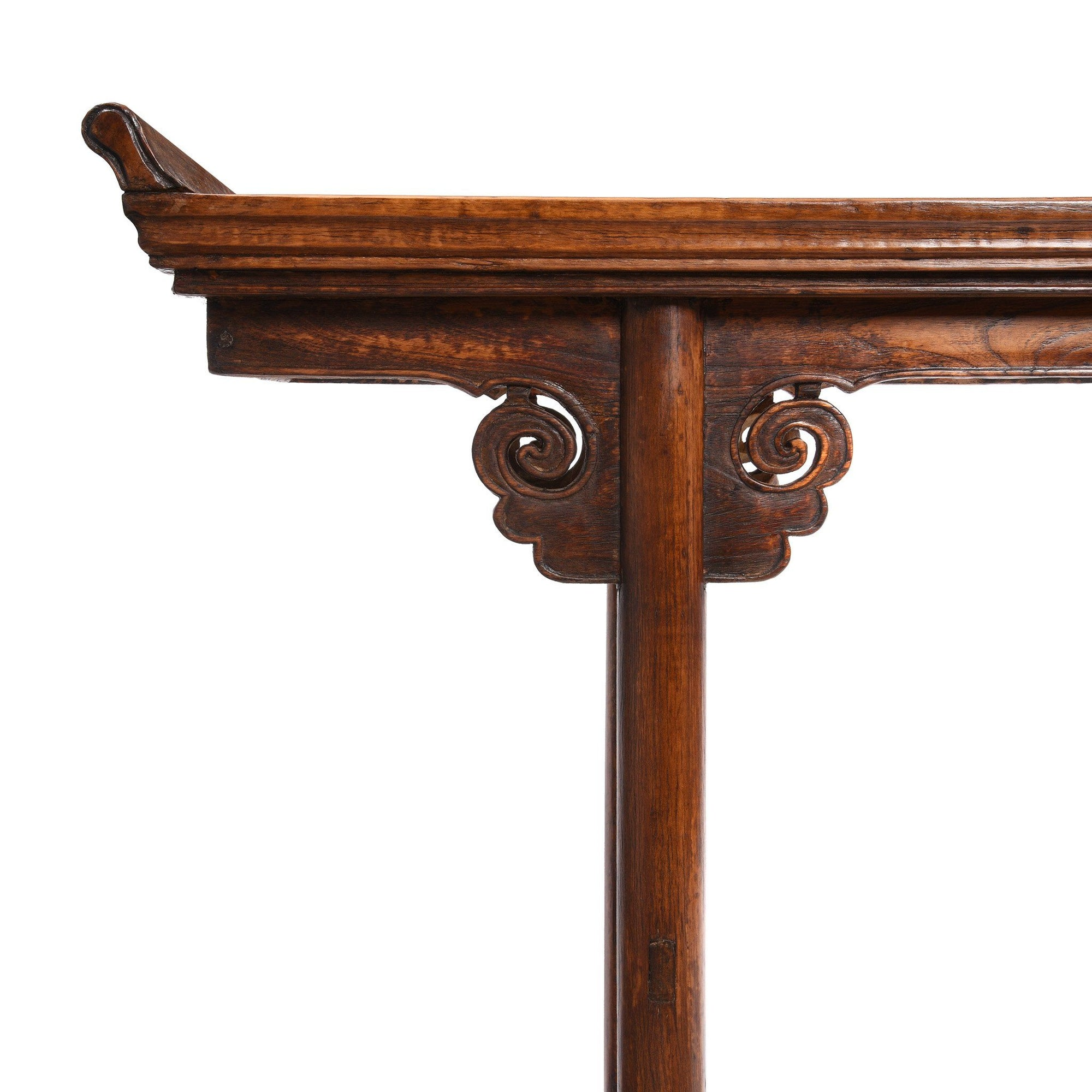 Antique Chinese Altar Table With Oak Top & Elm Legs From Gansu - 19thC | Indigo Antiques