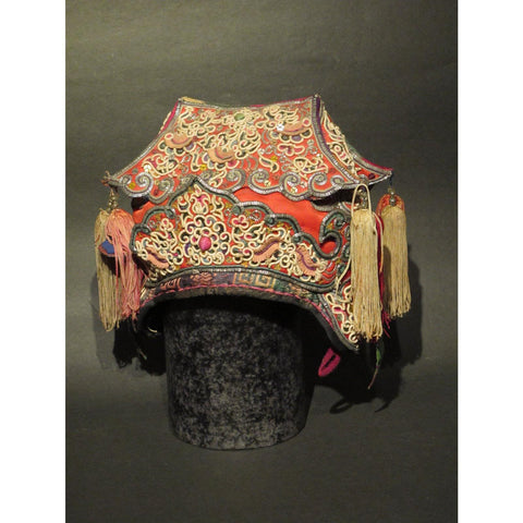 A Tribal Hat From Guizhou Province - ca 75 yrs Old