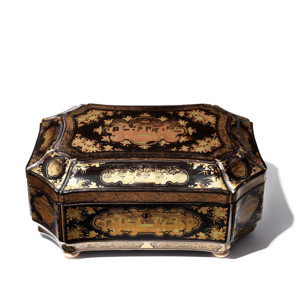 Chinese Lacquer Box - Qing Dynasty - Early 19thC