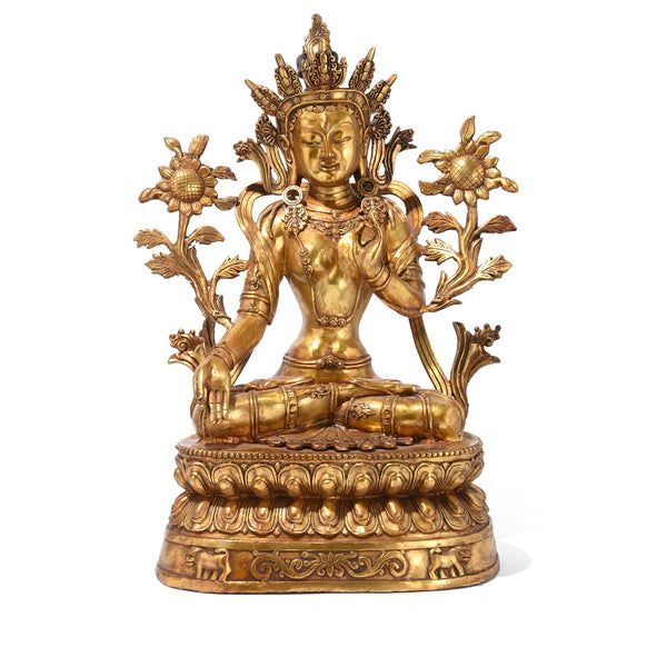 Gilt Bronze Statue Of The Tibetan Goddess Tara