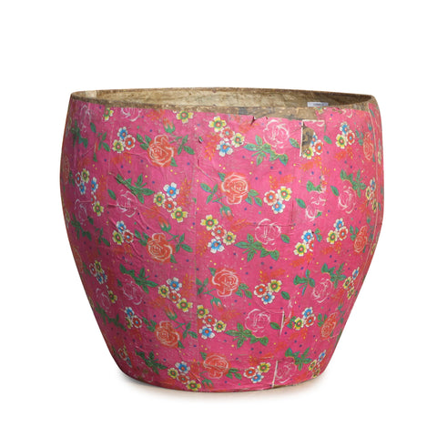 Papier Mache Bin From Shanxi - Ca 70 Yrs Old