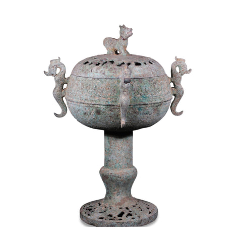 Reproduction Bronze Censer - Shang Dynasty Style