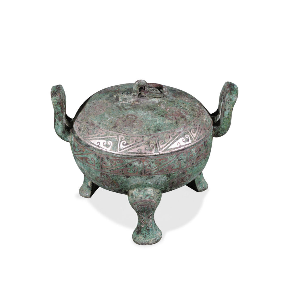 Reproduction Dingware Bronze Urn - Han Dynasty Style