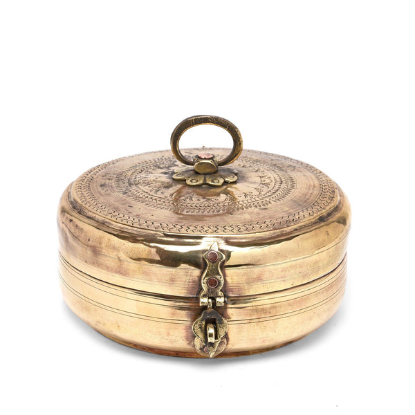 Brass Indian Chapatti Box - Ca 1900