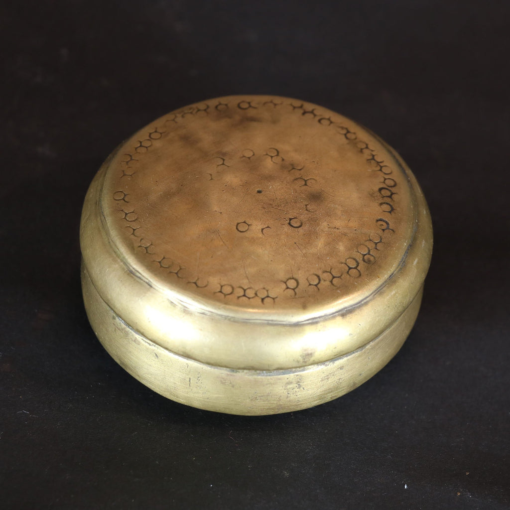 Brass Paan Box from Rajasthan - 19thC