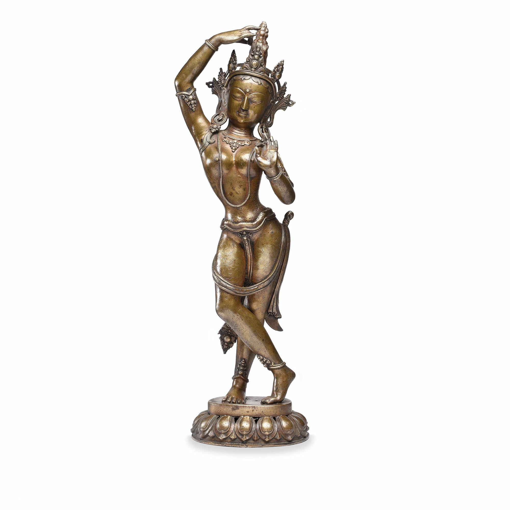 Bronze Statue of Parvati From Nepal - Early 20thC | Indigo Antiques