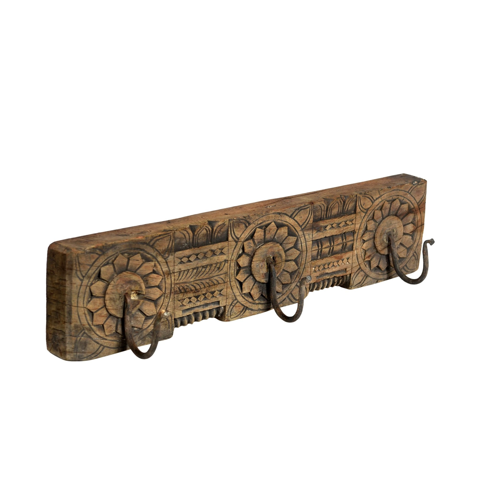 Carved Coat Hook Rail From Kerela - 19thC | Indigo Oriental Antiques