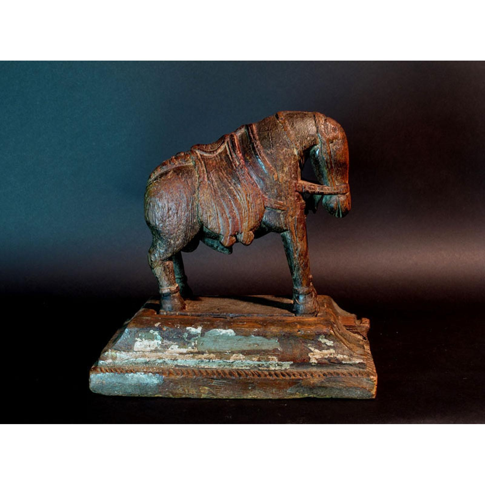 Carved Horse from Gujarat - 19thC | Indigo Oriental Antiques