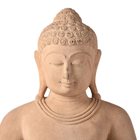 Carved Stone Sitting Buddha Statue From Patna