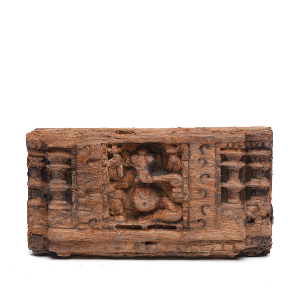 Carved Teak Panel Of Ganesh - 18thC