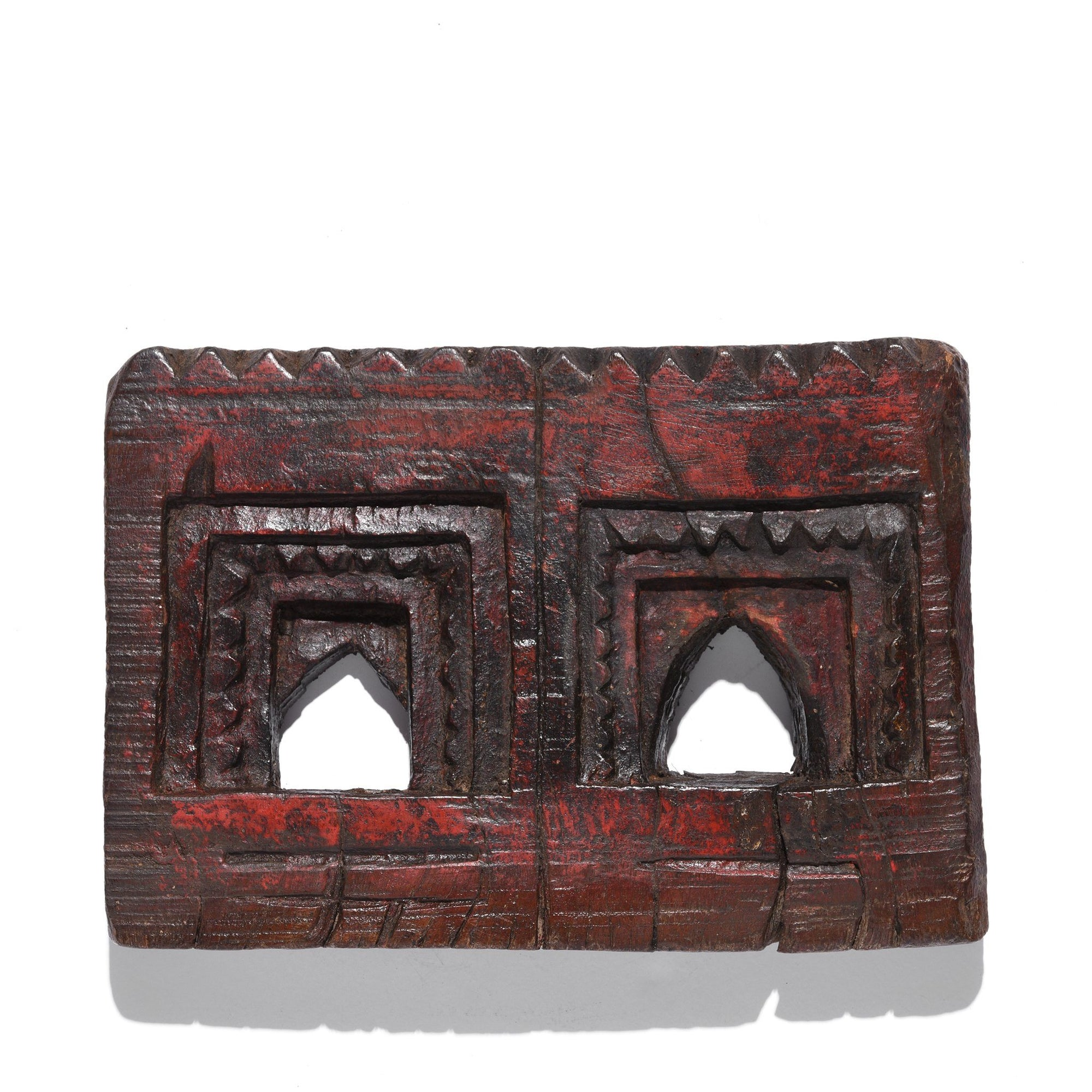 Carved Teak Votive Panel From Andra Pradesh - 80-120 Yrs Old | Indigo Oriental Antiques