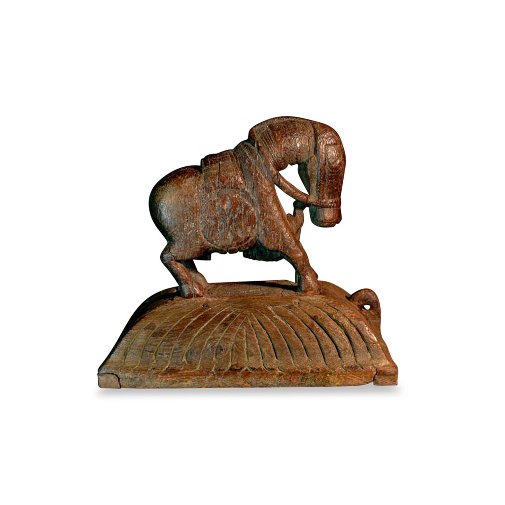 Carved  Teakwood Horse from Gujarat - 19thC
