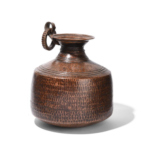 Copper Water Pot From Nepal - 19thC