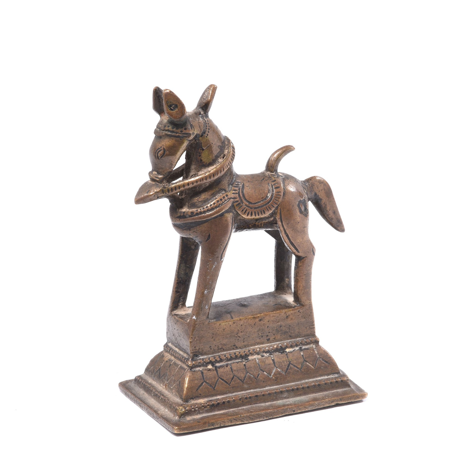 Early 19thC Bronze Horse From The Deccan | Indigo Antiques