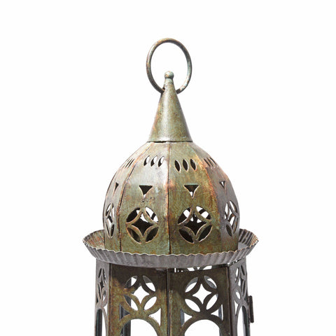 Octagonal Painted Storm Lantern from India