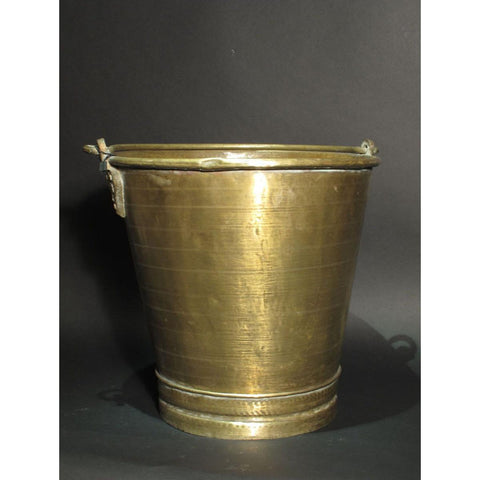 Old Brass Bucket Ca 75 Yrs