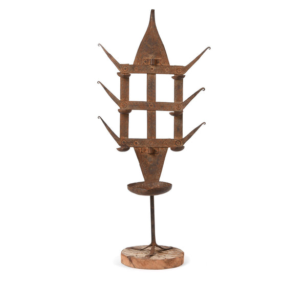 Old Iron Bastar Tribal Toran (Oil Lamp) - Ca 1920