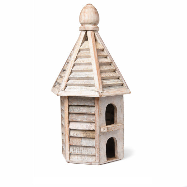 Painted Bird House Made From Reclaimed Wood