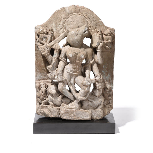 Stone Varaha Statue On Stand - Late 18thC