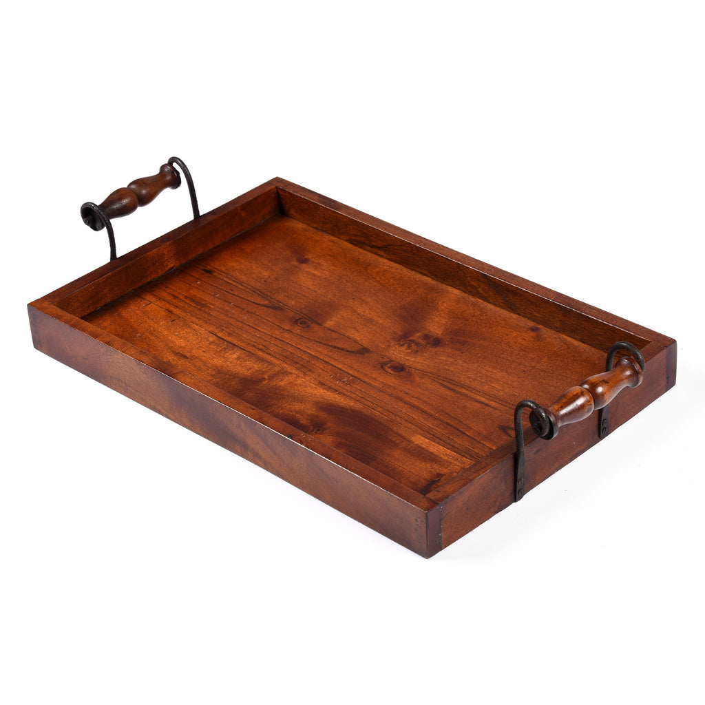 Sturdy Tea Tray with Iron Handles