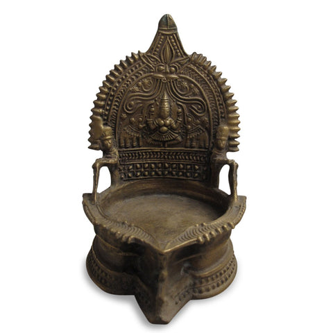Votive Oil Lamp From Andra Pradesh - Ca 75 yrs old