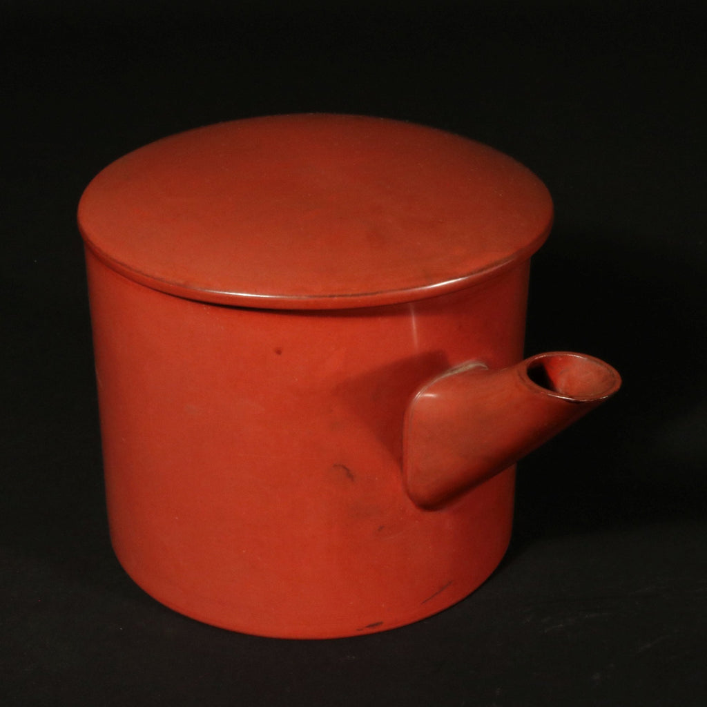 Red Lacquer Sake Pouring Vessel Ca.1930