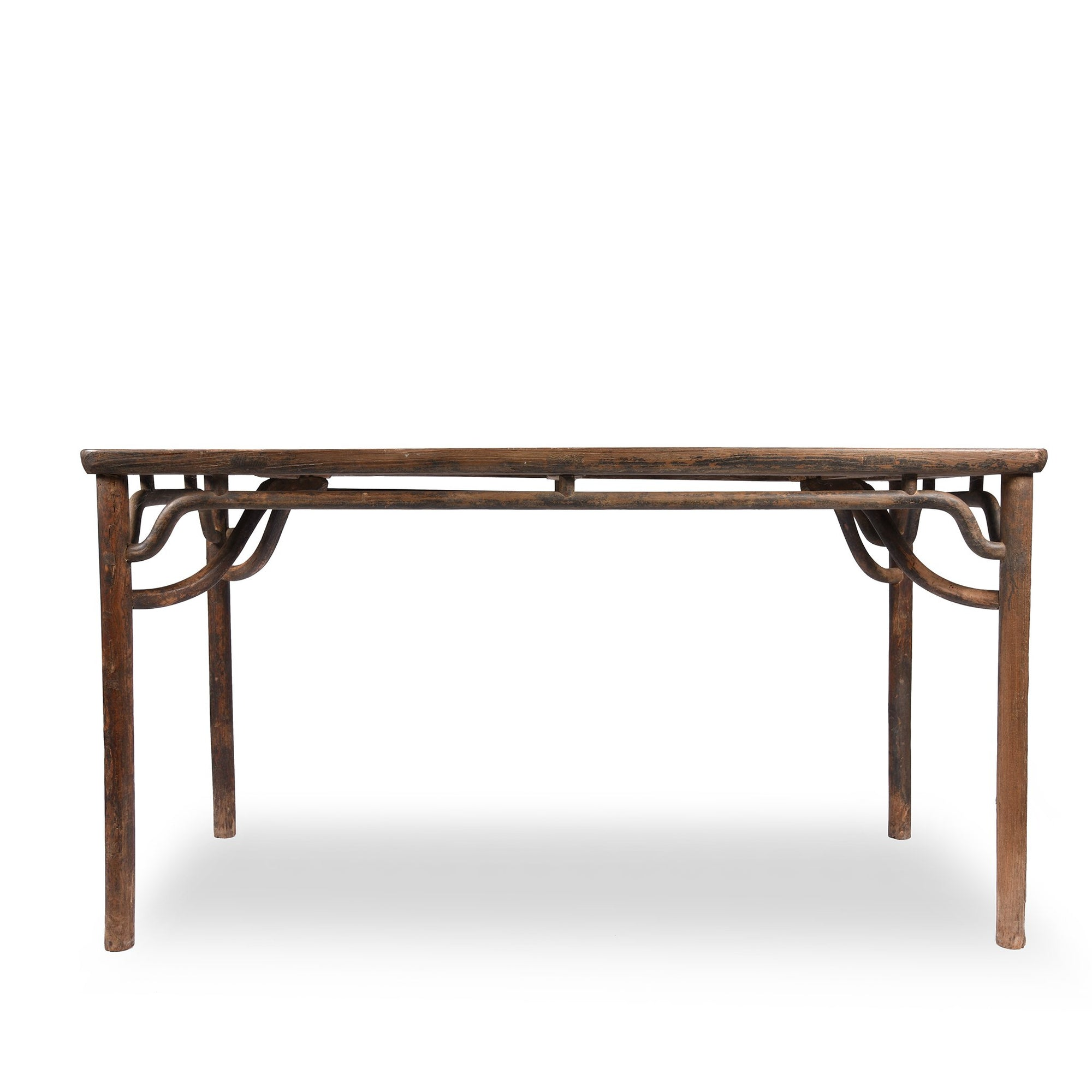 Ming Style Dining Table, Red Elm - 19thC