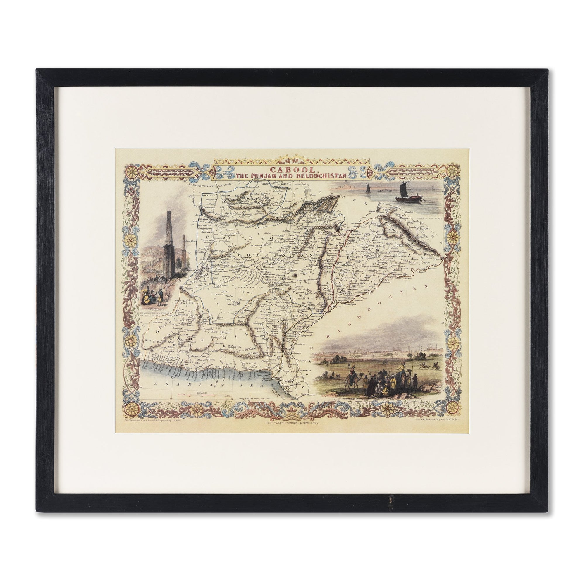 Framed Oriental Map Prints