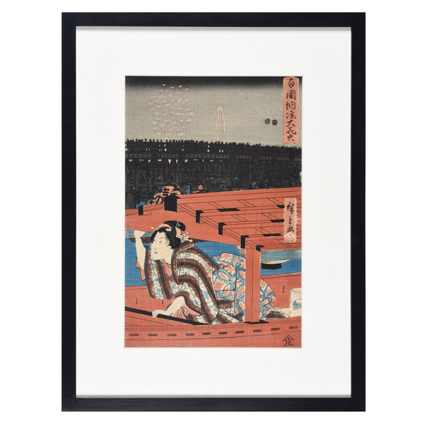 Old Woodblock Print by Hiroshige - 19thC