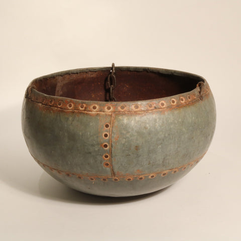 Galvanised Iron Planter From Rajasthan - Ca 50 Yrs Old
