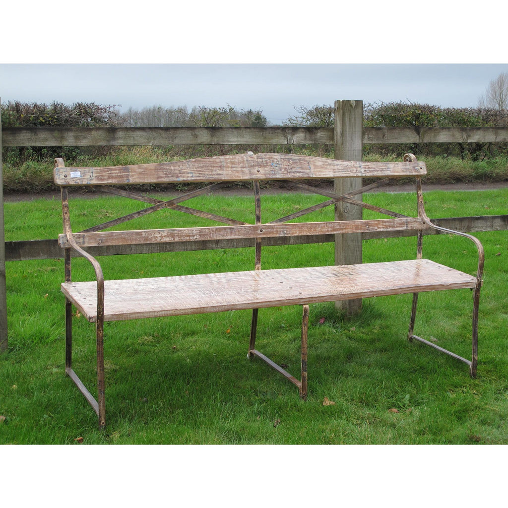 Garden Bench Made From Reclaimed Teak