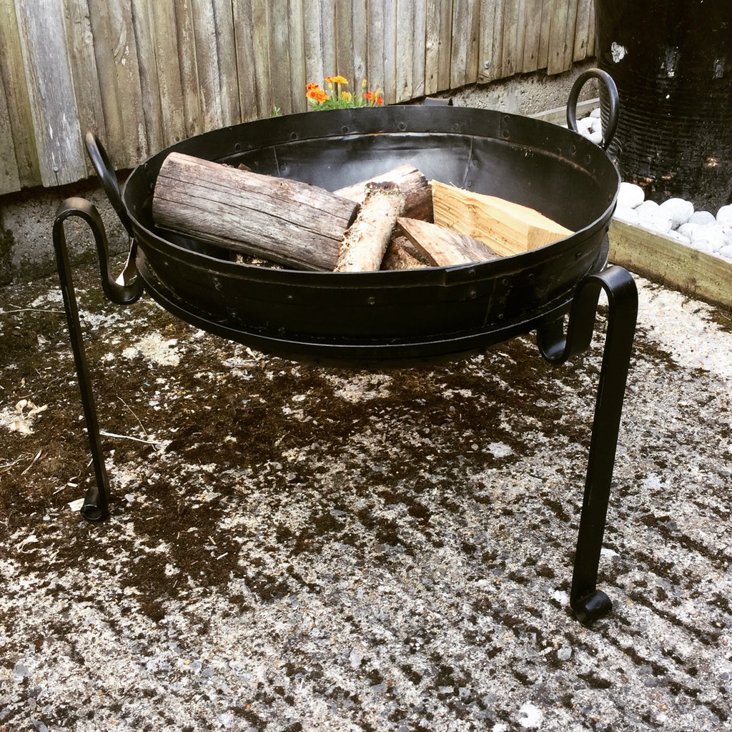 Kadai -  Indian Fire Bowl on Stand