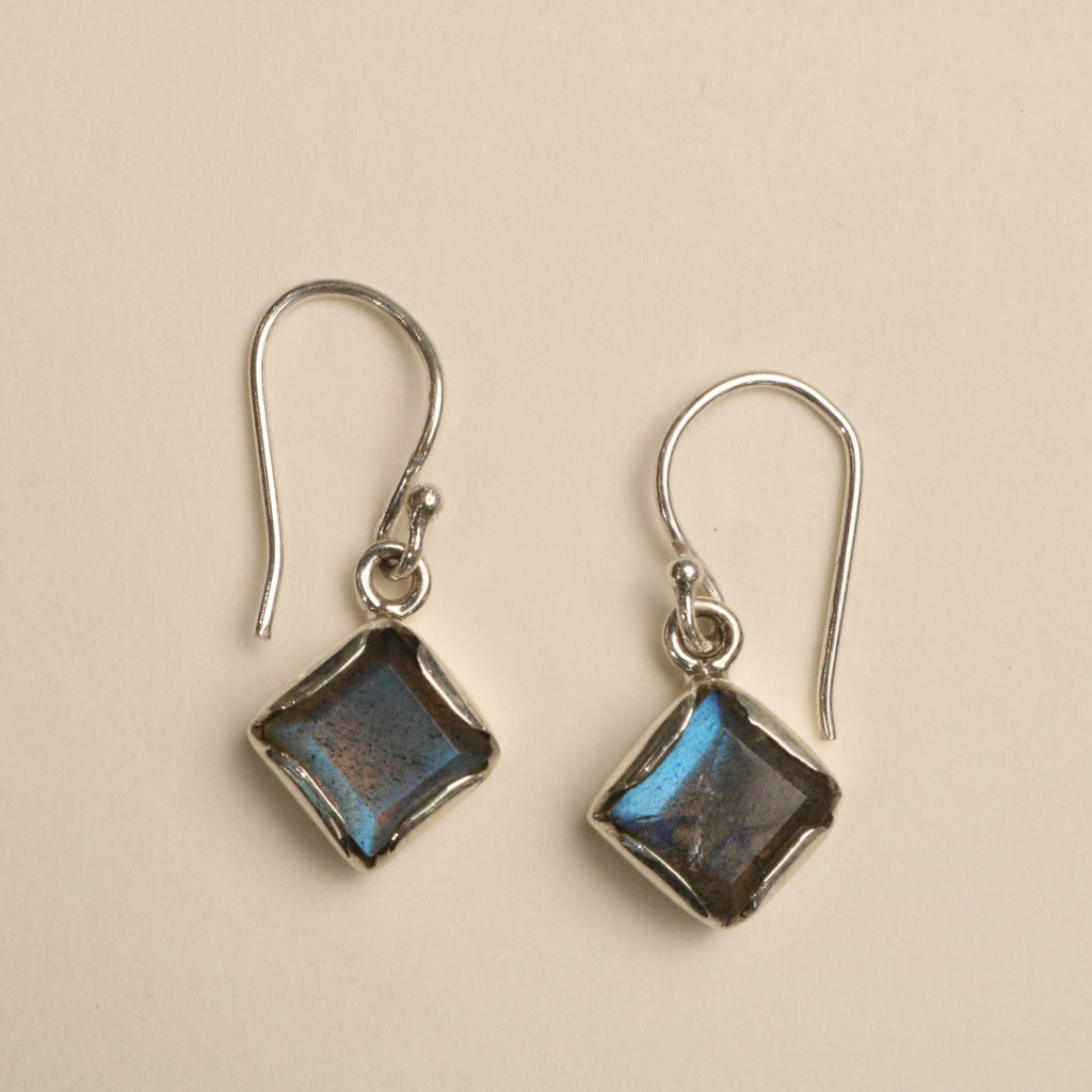 Labradorite And Silver Earrings