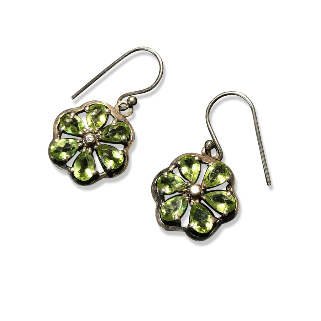 Silver and Peridot Earrings - From Rajasthan