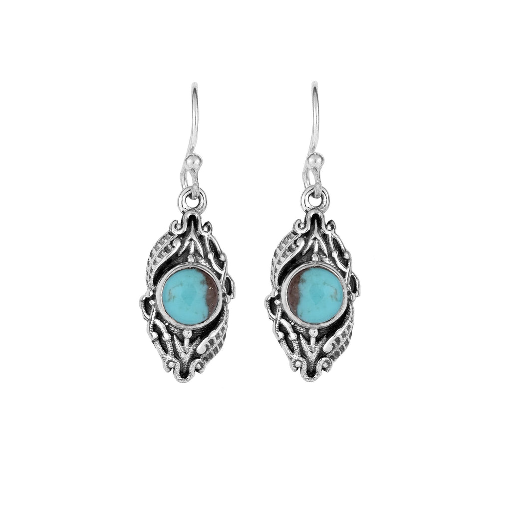 Silver and Turquoise Earrings - From Rajasthan