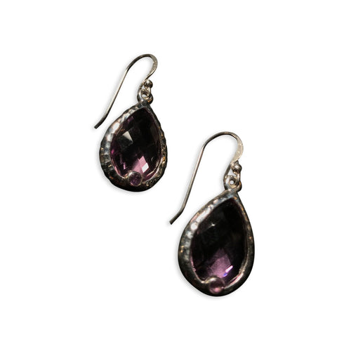Silver Teardrop Earrings - From Rajasthan