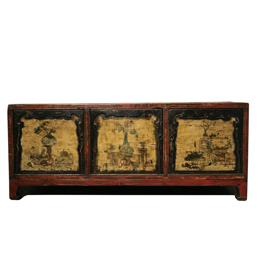 Painted Kang Cabinet From Mongolia - 19thC