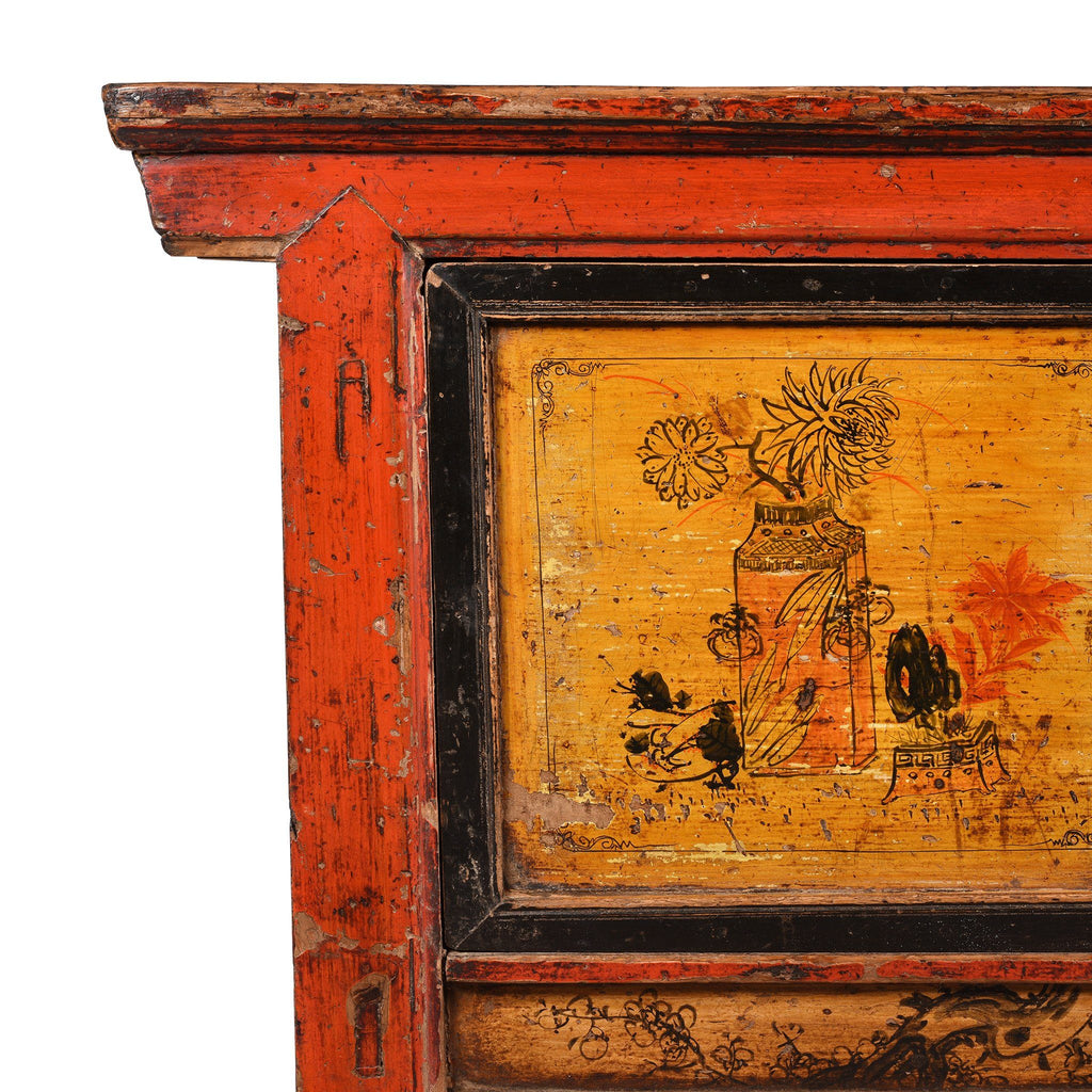 Painted Sideboard From Gansu Province - 19thC