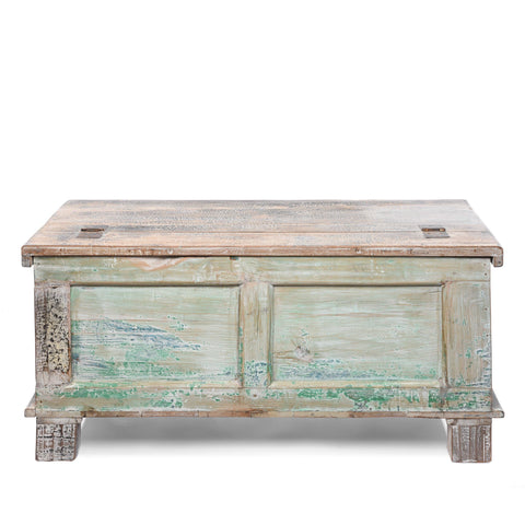 Reclaimed Teakwood Blanket Chest With Painted Finish
