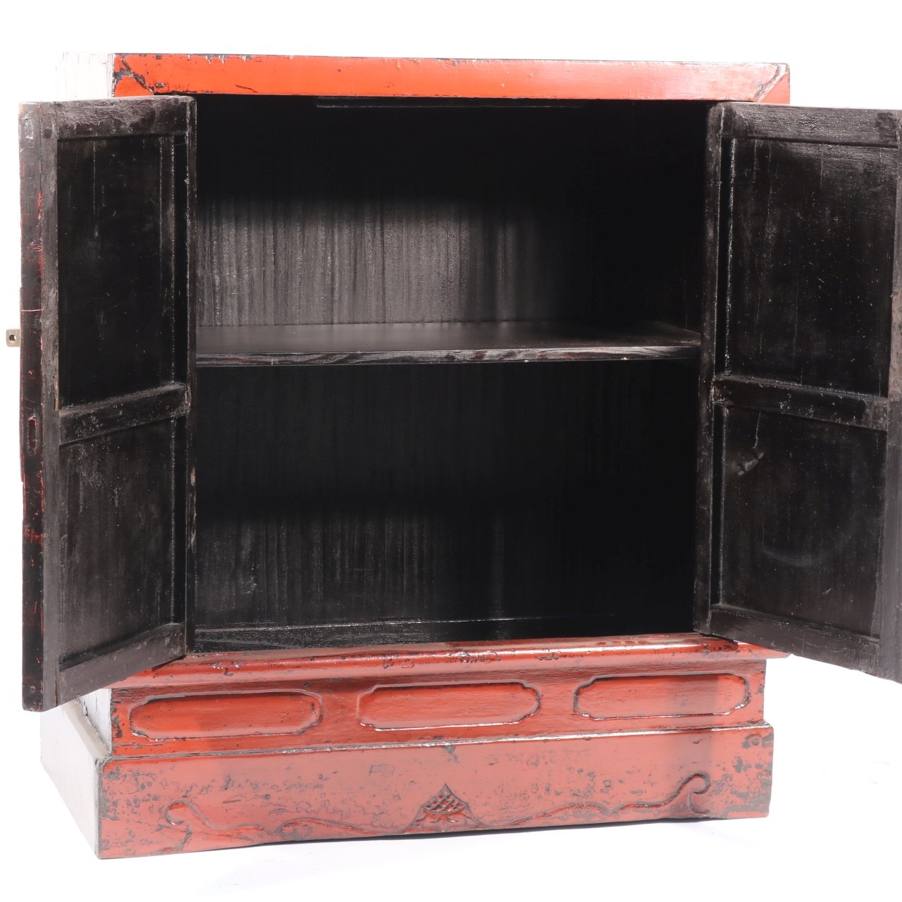 Red Lacquer Book Cabinet - Chinese - 19thC | Indigo Oriental Antiques