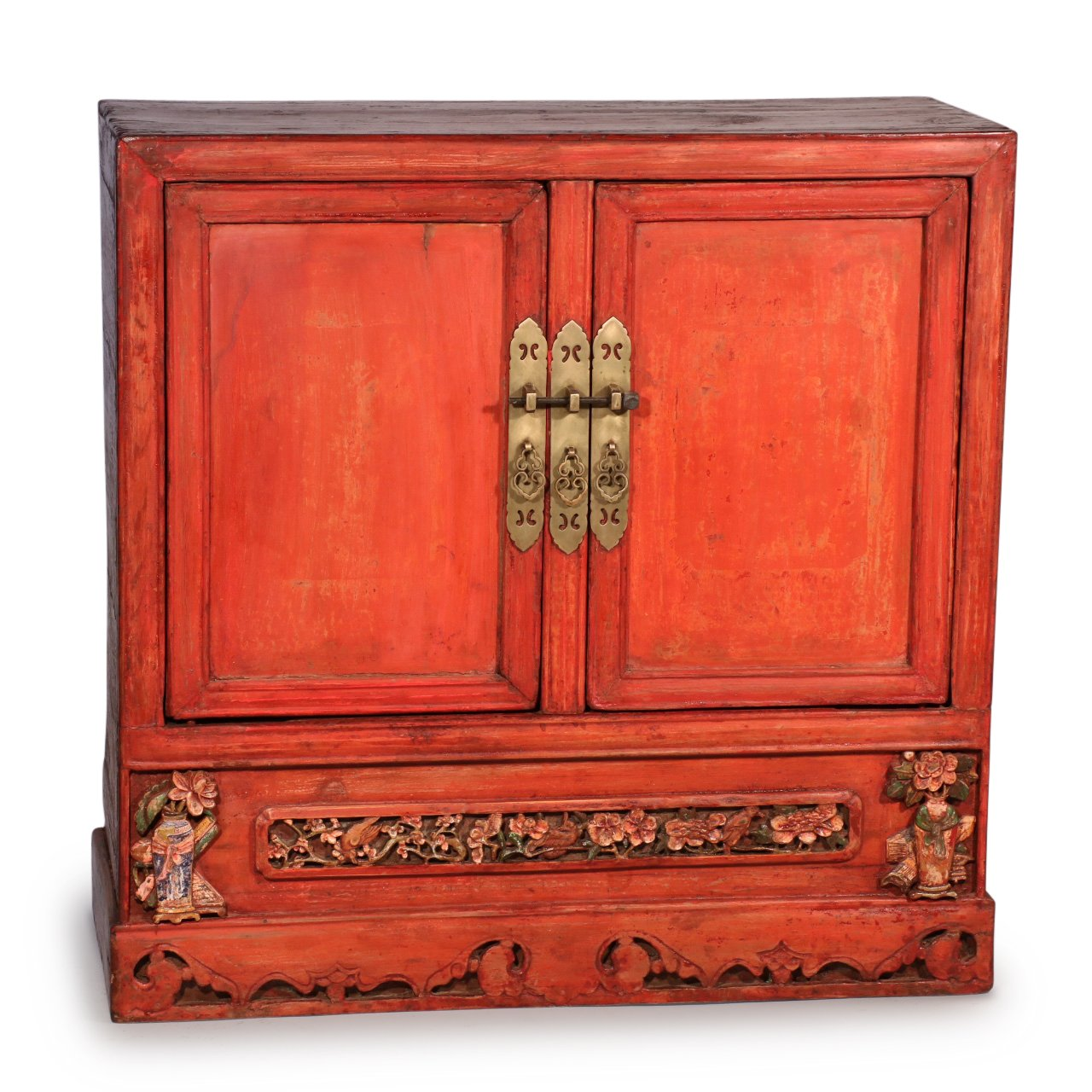 Red Lacquer Cabinet from Shanxi, China - 19thC | Indigo Oriental Antiques