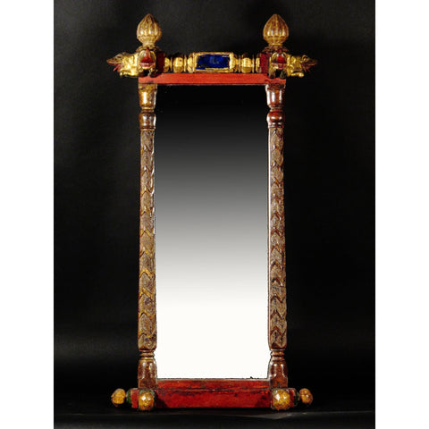 Gilt Wood Mirror Frame With Elephants