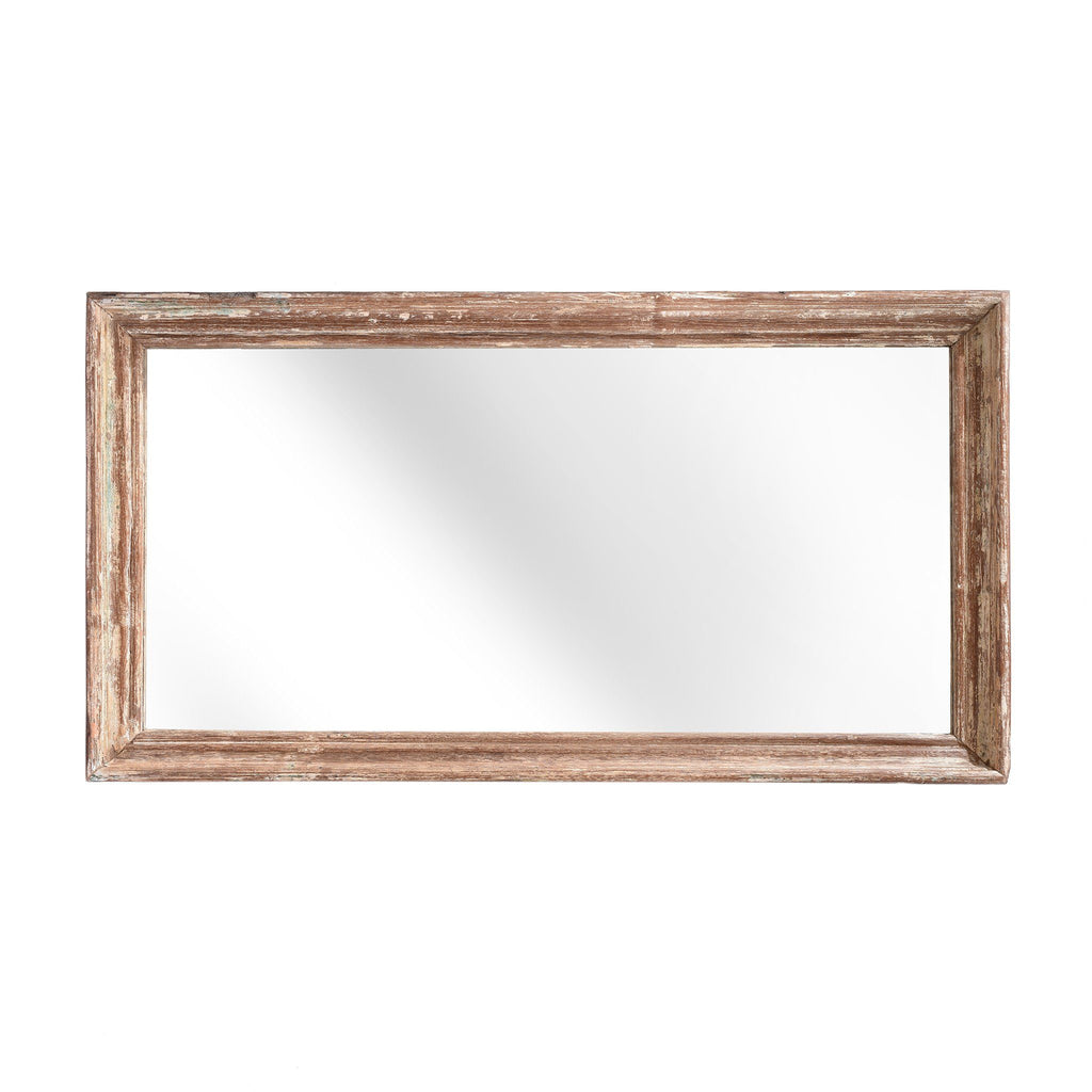Indian Mirror Made From An Old Teak Window - Ca 1920