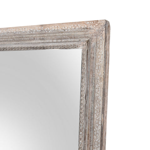Large Indian Mirror From An Old Teak Doorway - 19thC