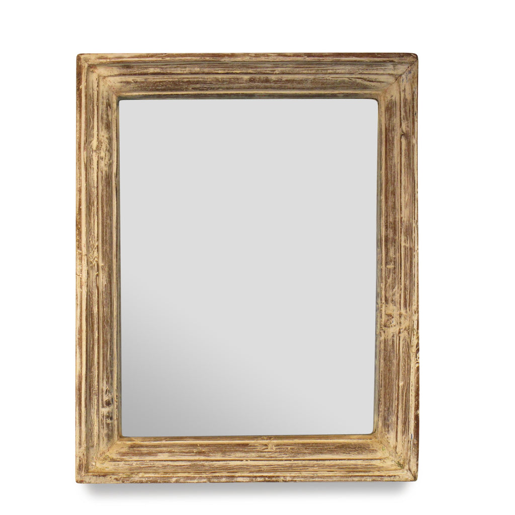 Limed Mirror Made From Old Architectural Teak