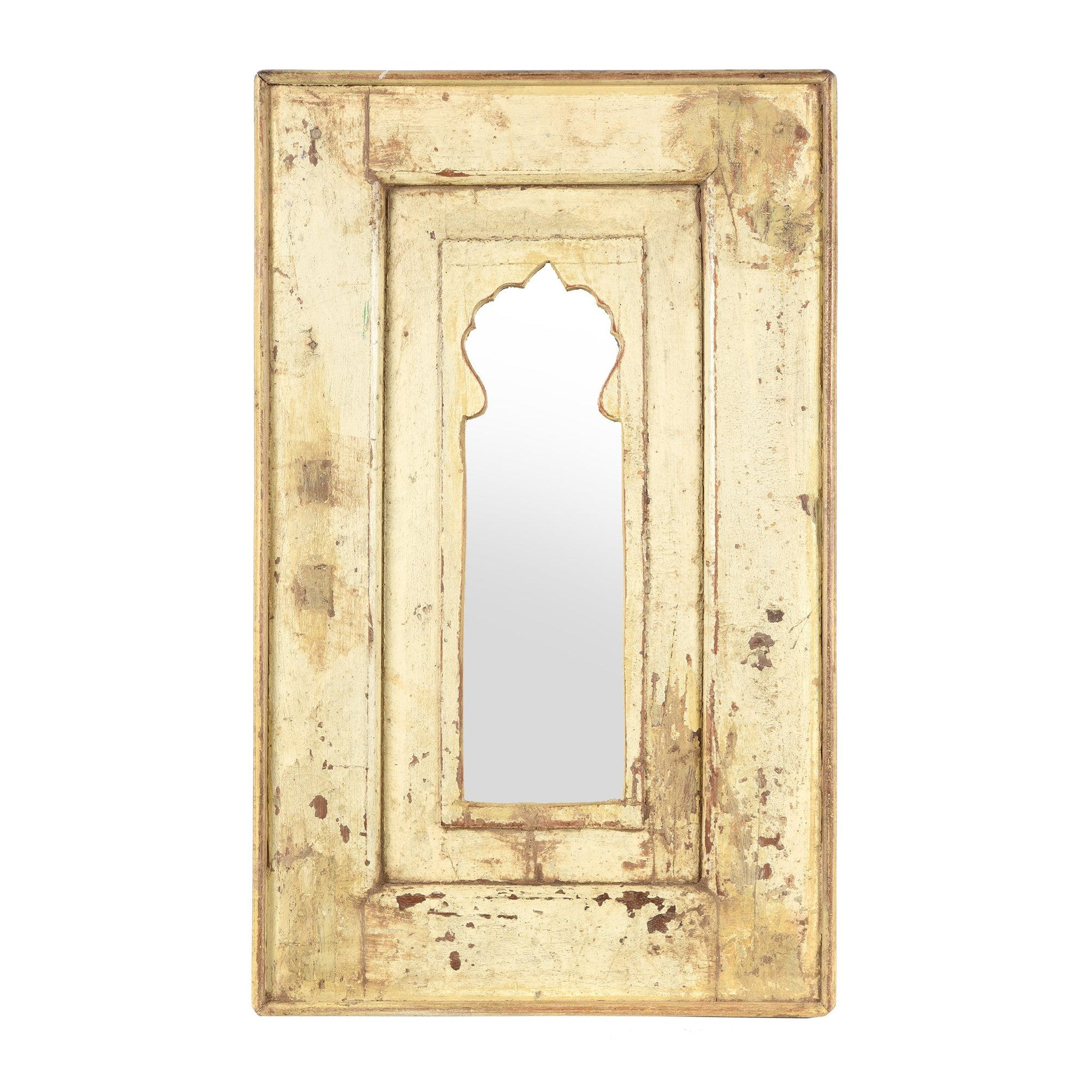 Mihrab Mirror Frame Made From Old Teak | Indigo Antiques